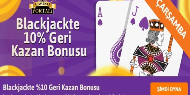 Mroyun Blackjackte %10 Geri Kazan Bonusu